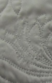 Martha Stewart Carved Dahlia Silver Full Queen Quilt