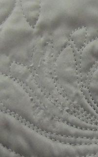 Martha Stewart Carved Dahlia Silver Full Queen Quilt