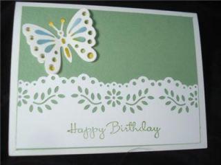 Birthday Card Stampin Up Martha Stewart Spellbinders Butterfly Green