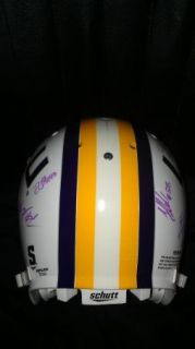2012 LSU Tigers Team Signed Football Helmet Certificate Proof
