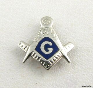 Masonic Vintage Square Compass Emblem Blue Lodge Member Lapel Pin