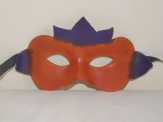 Childs Masquerade Costume Fancy Dress Leather Mask