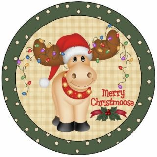 Merry Christmoose Christmas Tree Ornament Acrylic Cut Outs