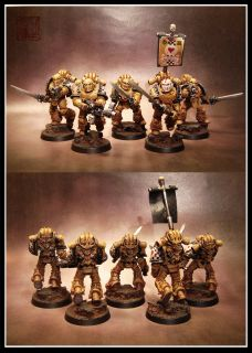 Master Class Painted Blood Angels Lamenters Army