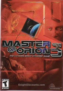 Master of Orion 3 III Space Strategy Sim PC Game New in Original Big