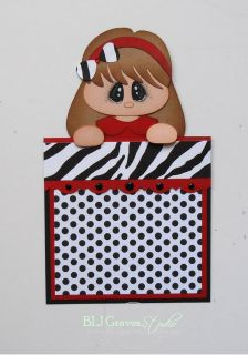 Premade Mat Set Paper Piecing Scrapbook Page Album Girl Baby Doll
