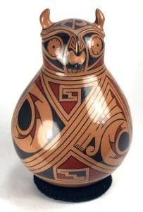 Mata Ortiz Pottery by Carlos Villalba Owl Effigy