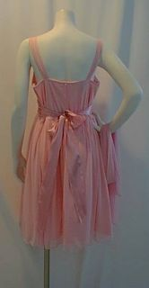 New Pink Satin Cocktail Maternity Dress Small Baby Shower Chiffon