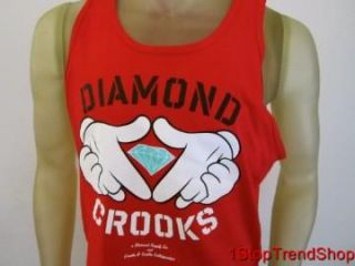 NWT Diamond Supply Co Crooks & Castles collaboration tank mens red XL