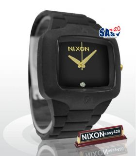 Nixon Rubber Player A1391041 Matte Black Gold Men Watch