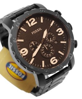 JR1356 Nate Chrono Amber Dial Matte Black Band Men Watch New