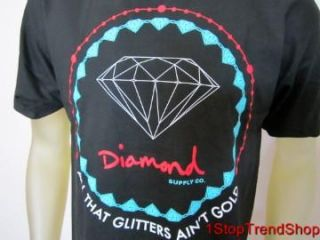 Diamond Supply Co Mens Black Shirt Sizes s M L XL All That Glitters