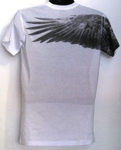 American Eagle Graphic Design Mens Hot Black/White T shirt