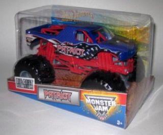 Wheels Monster Jam 2011 The Patriot 1 24 Scale Diecast Truck Mattel