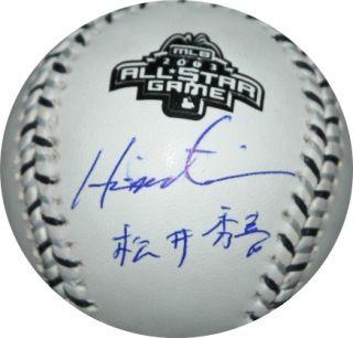 Hideki Matsui Autographed 2003 All Star Baseball Dual Signed Kanji