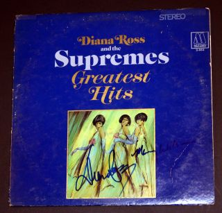 The Supremes Signed Autographed Album Diana Ross Mary Wilson