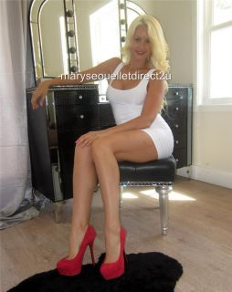 WWE Diva Maryse Ouellet Direct Win My Sexy Red Heels Sz 9 Worn by Me