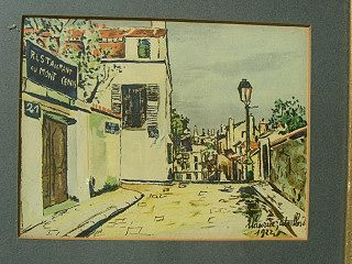 Maurice Utrillo 1922 Lithograph Signed 31771