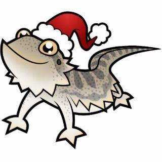Christmas Bearded Dragon / Rankins Dragon Photo Cutout