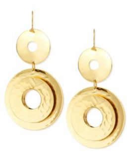 Vince Camuto Earrings, Gold Tone Glass Pave Crystal Drop Earrings