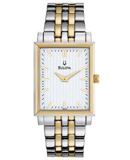Bulova Watch, Mens Two Tone Stainless Steel Bracelet 29mm 98A115