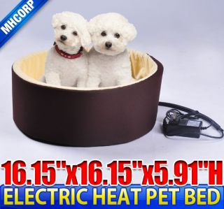 Dog Cat Pet Electric Heat Bed Mat Pad Sleeping Warmer Round