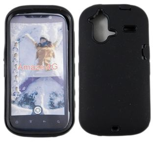 For HTC Amaze 4G Impact Defender Case Double Layer Hard Soft Black