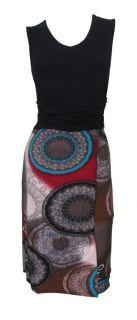 Black Spliced Mandala Print Day Dress Kamryn Size 14 New