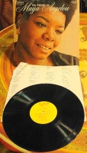 1966 The Poetry of Maya Angelou Vinyl LP Record Album Stamped Promo