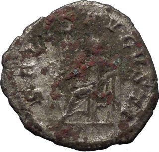 Maximinus I 235AD RARE Silver Ancient Roman Coin Salus Health Goddess