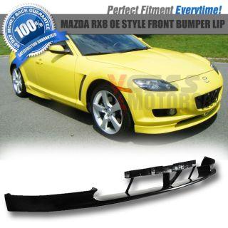 04 08 Mazda RX8 OEM Type Front + Rear Bumper Lip Spoiler + Side Skirt