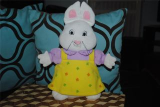 Max & Ruby RUBY White bunny rabbit plush stuffed doll 13 Yellow Dress