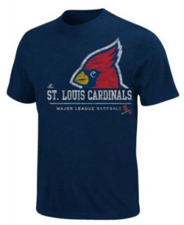 Majestic MLB Big and Tall Shirt, St. Louis Cardinals Raglan Shirt