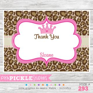 Princess Personalized Baby Shower Invitation or Thank You Card293