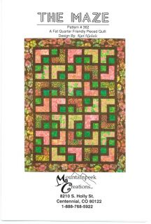 The Maze Quilt Pattern by Mountainpeek Creations Fat Quarter & Batik