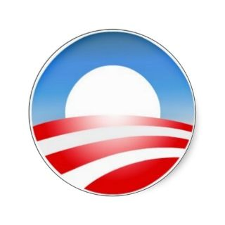 Obama Logo Round Sticker