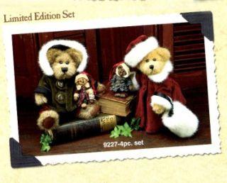 BOYDS BEARS 1998 BAILEY & MATTHEW PLUSH & MATCHING ORNAMENT SET #9227K