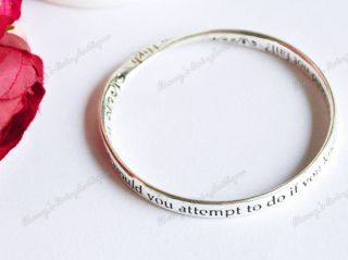 Beautiful Retro Vintage Religious Mobius Strip Bible Bracelet Bangle
