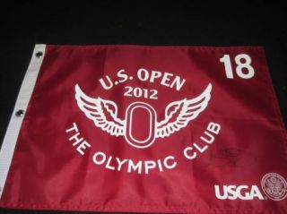 Rory McIlroy Signed 2012 US Open Olympic Club Pin Flag PSA DNA 2011