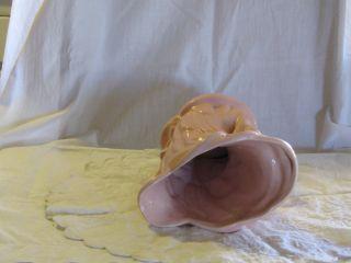 Vintage McCoy Art Pottery Swan Vase Pink McCoy Mark on Base