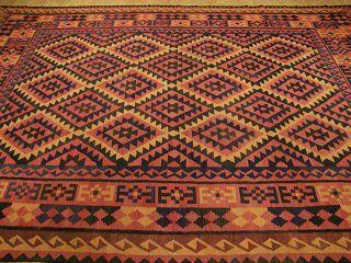 Beautiful Handmade Vegetable Dye Hand Spun Wool Afghan Mazar kilim Rug