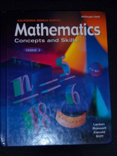 McDougal Littell Mathematics Math 7th Grade 7 Textbook