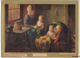 1933 Bernard Pothast Print Peaceful Family Baby Doll