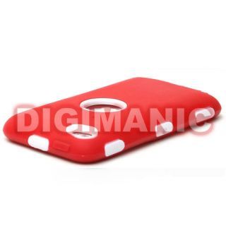 MAX RED / WHITE HARD DUAL HARD CASE COVER FOR APPLE IPOD TOUCH 4TH
