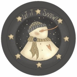 Let It Snow Snowman Christmas Tree Ornament Cut Outs
