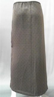 Norton McNaughton Misses M Stretch Maxi Long Skirt Olive Green Pattern
