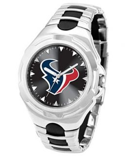Game Time Watch, Mens Houston Texans Black Rubber and Stainless Steel