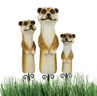 Meerkat Garden Stake Statues Wild Animal African Africa Meercat Design