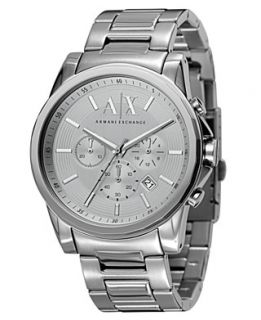Armani Exchange Watch, Mens Chronograph Stainless Steel Bracelet