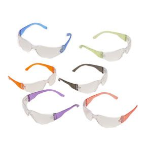 Safety Glasses Intruder Multi Color Clear Lens 12 Box